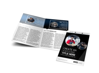 Auto Body Mechanics Bi-Fold Brochure Template