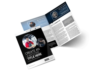 Auto Body Mechanics Bi-Fold Brochure Template preview