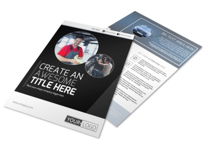 Auto Body Mechanics Flyer Template preview