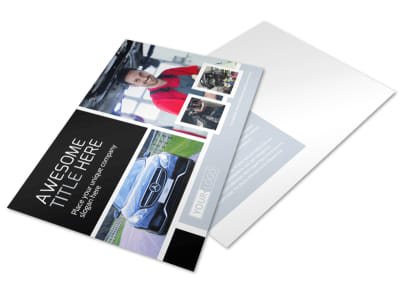 Auto Body Mechanics Postcard Template