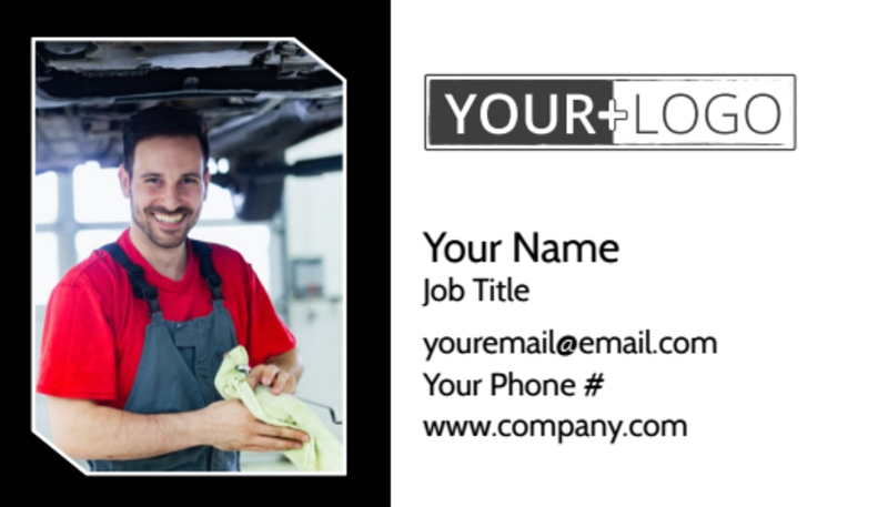 Auto Body Mechanics Business Card Template Preview 2