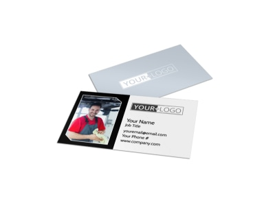 Auto Body Mechanics Business Card Template preview
