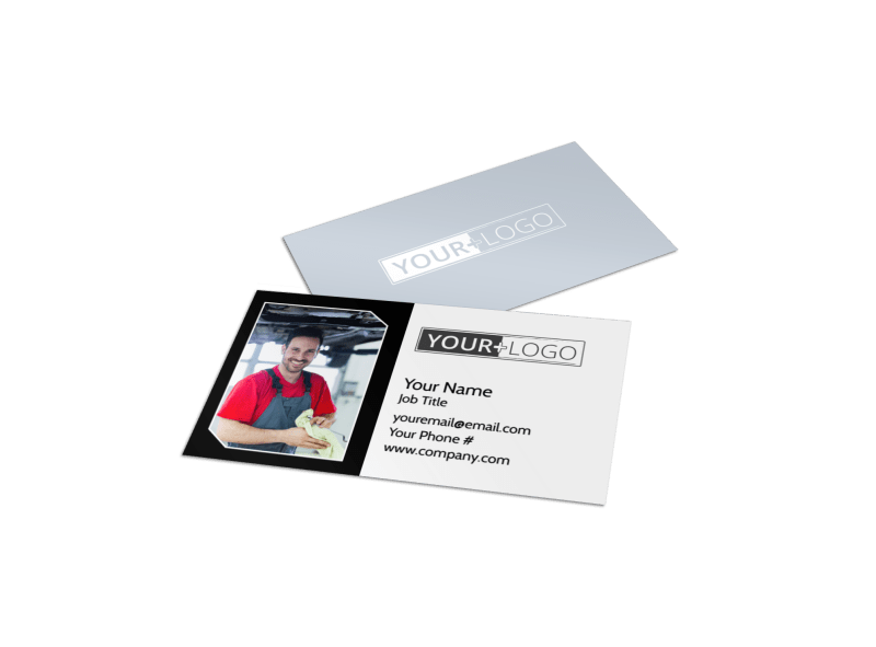Auto Body Mechanics Business Card Template Preview 1