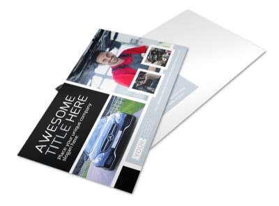 Auto Body Mechanics Postcard Template preview