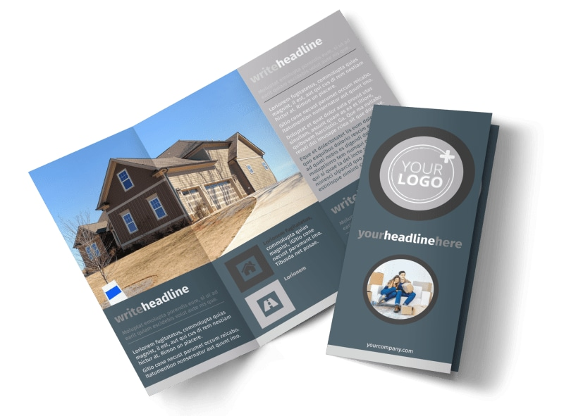 affordable moving company brochure template