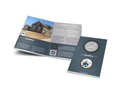 Affordable Moving Company Bi-Fold Brochure Template preview