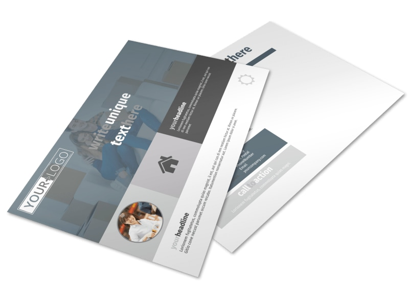 Affordable Moving Company Postcard Template