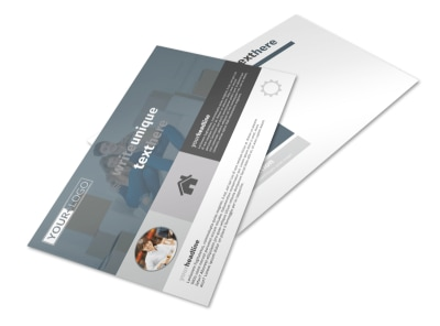 Affordable Moving Company Postcard Template preview