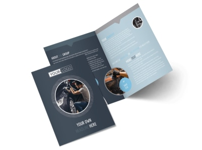 Auto Body & Glass Bi-Fold Brochure Template preview