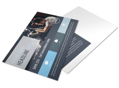 Auto Body & Glass Postcard Template preview