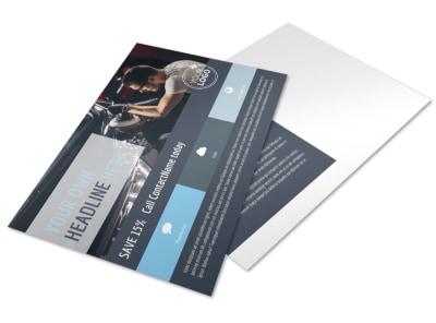 Auto Body & Glass Postcard Template preview