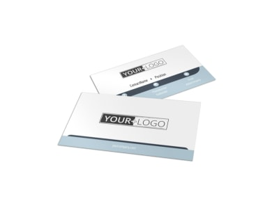 Auto Body & Glass Business Card Template preview