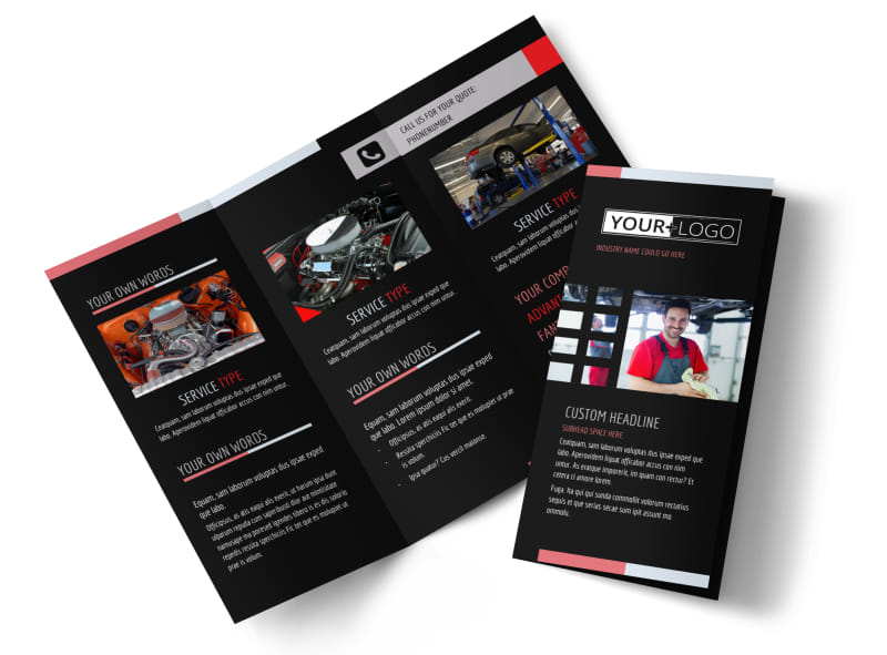 car repair brochure template