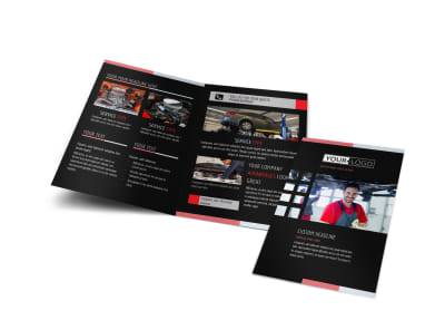 Car Repair Bi-Fold Brochure Template preview