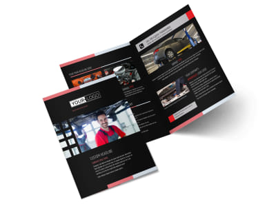 Car Repair Bi-Fold Brochure Template