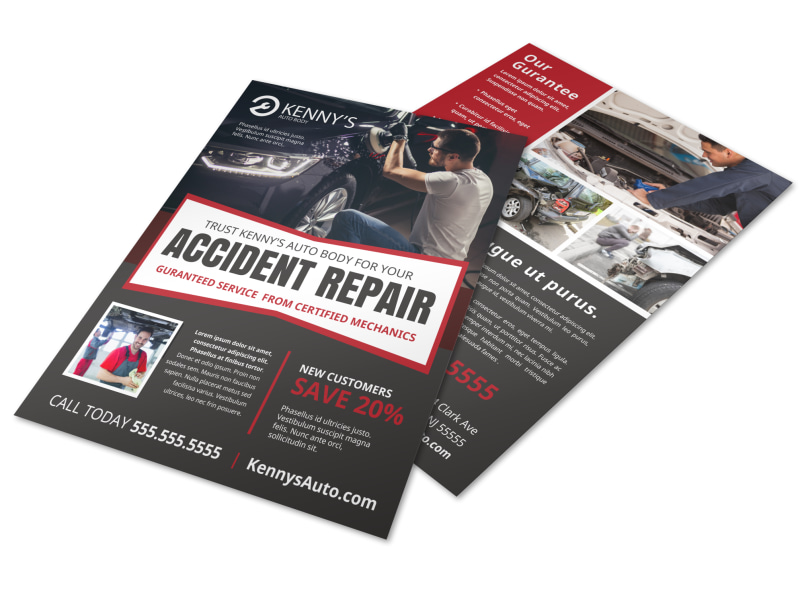 car repair flyer template mycreativeshop