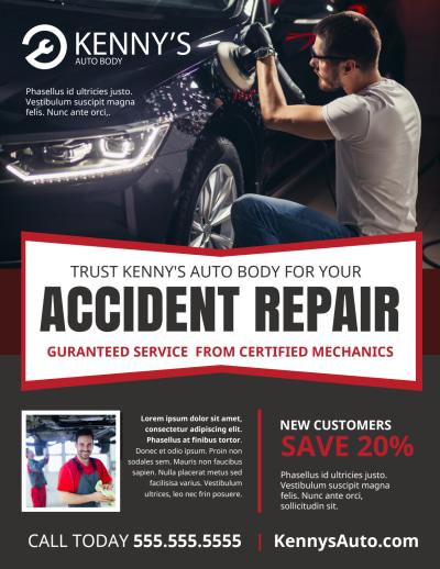Car Repair Flyer Template Preview 1