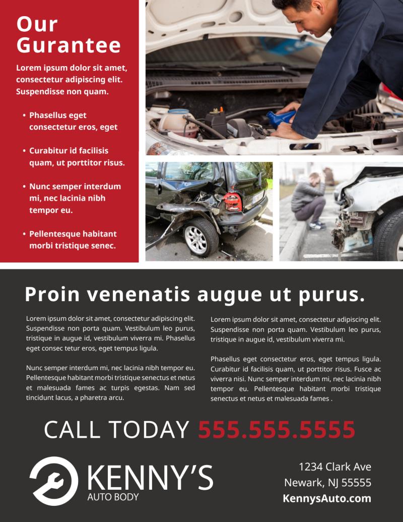Car Repair Flyer Template Mycreativeshop