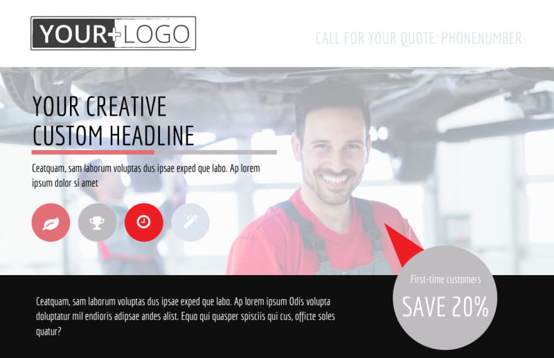 Car Repair Postcard Template Preview 2