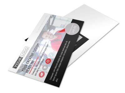 Car Repair Postcard Template preview