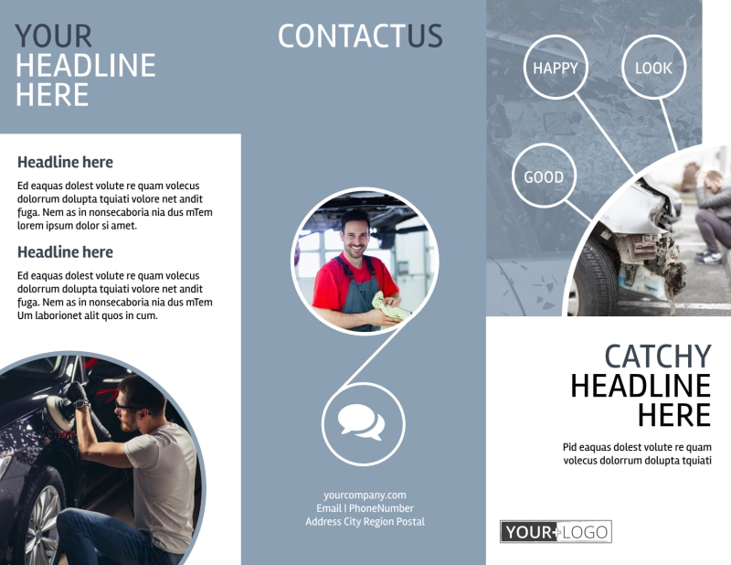 Collision Repair Center Brochure Template Preview 2