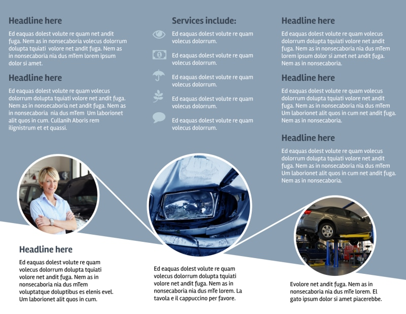 Collision Repair Center Brochure Template Preview 3