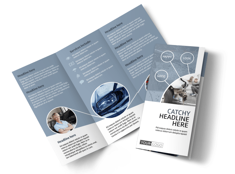 Collision Repair Center Brochure Template Preview 1