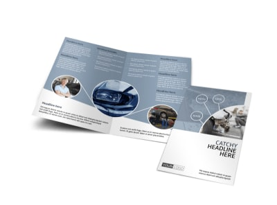 Collision Repair Center Bi-Fold Brochure Template