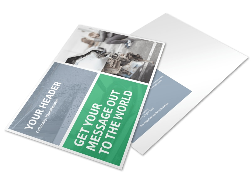 Collision Repair Center Postcard Template Preview 4