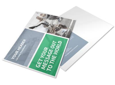 Collision Repair Center Postcard Template preview