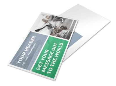 Collision Repair Center Postcard Template preview