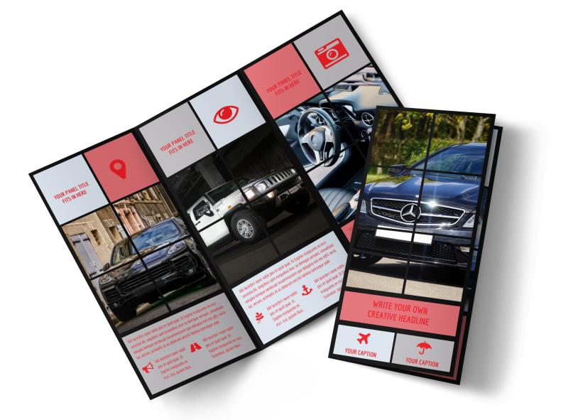 Luxury Vehicles Tri-Fold Brochure Template