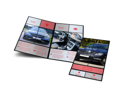 Luxury Vehicles Bi-Fold Brochure Template