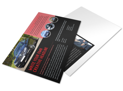 Luxury Vehicles Postcard Template preview