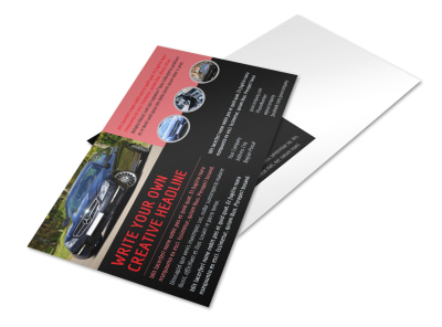 Luxury Vehicles Postcard Template