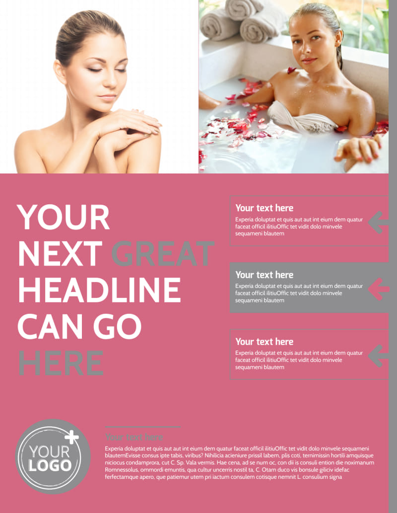 Beauty Lounge Flyer Template Preview 2