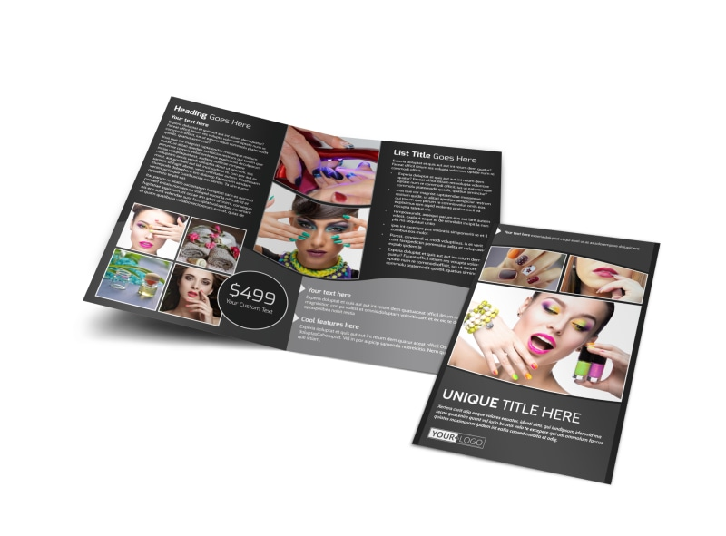 Elegant Nail Salon Bi-Fold Brochure Template