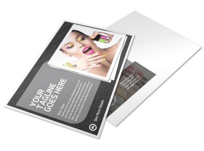 Elegant Nail Salon Postcard Template preview