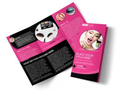 Beauty Supply Tri-Fold Brochure Template