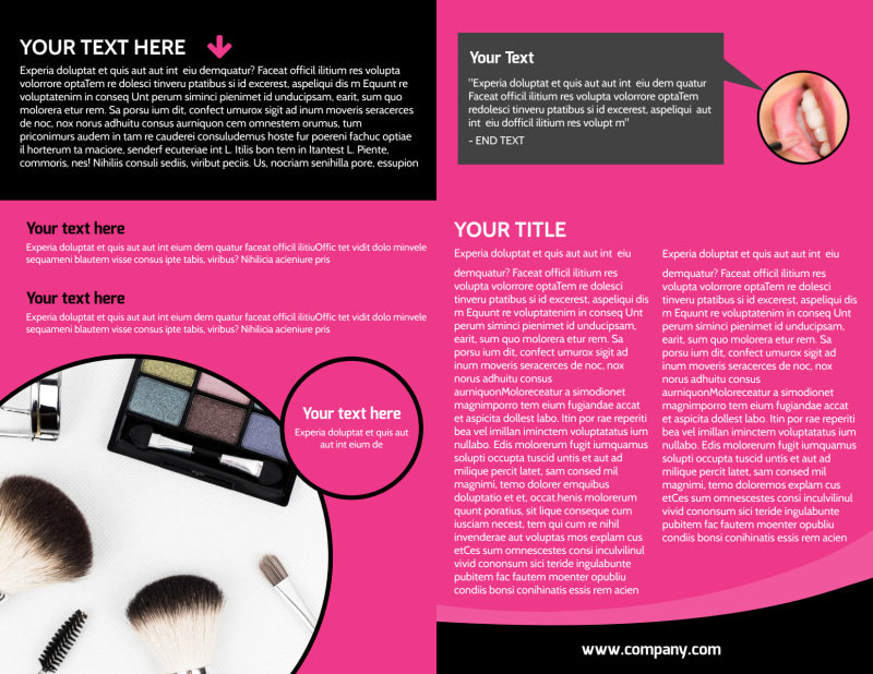 Beauty Supply Brochure Template Preview 3