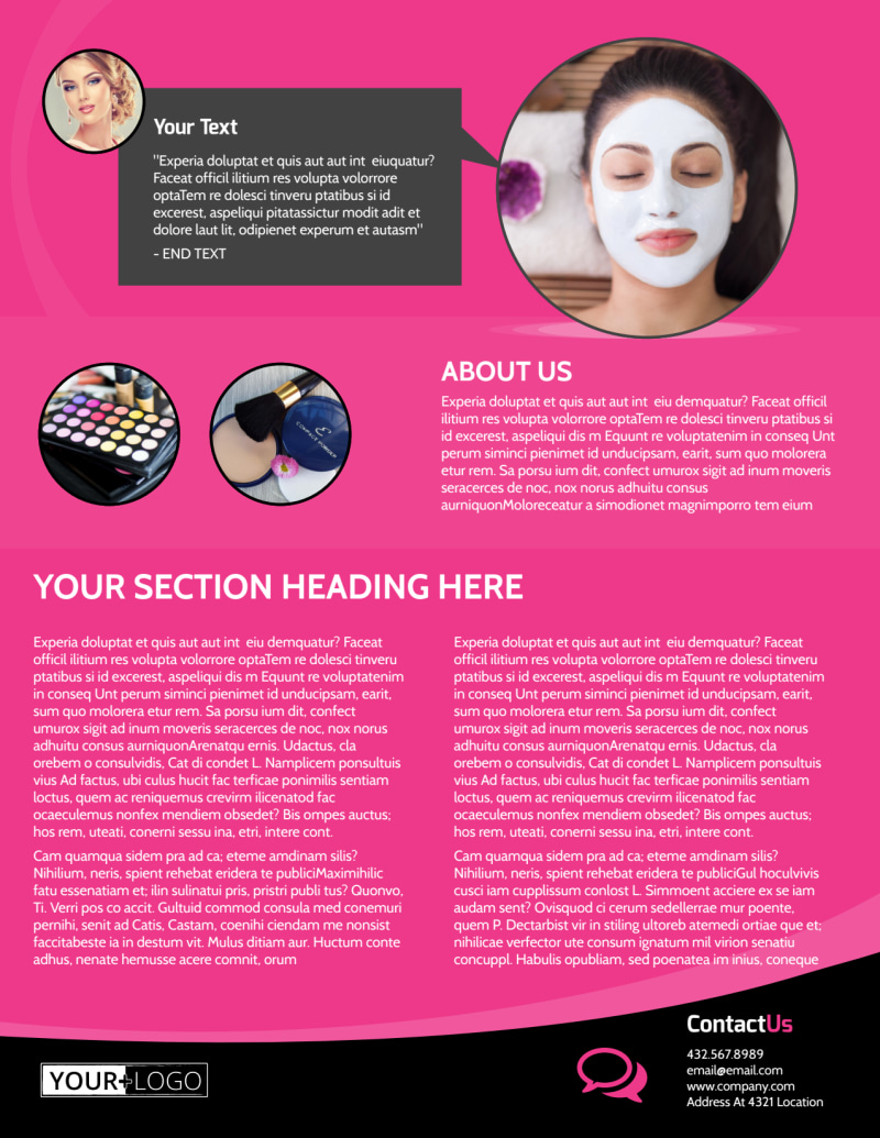 Beauty Supply Flyer Template Preview 3
