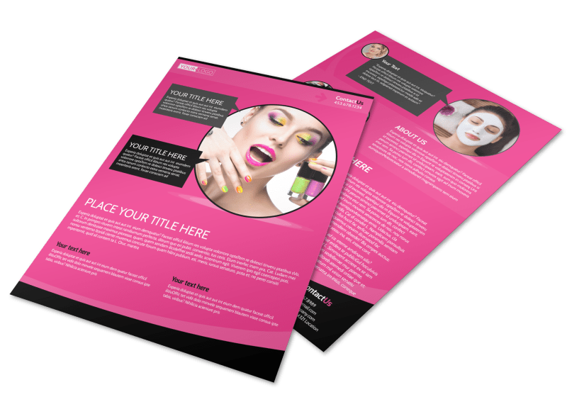 Beauty Supply Flyer Template Preview 1