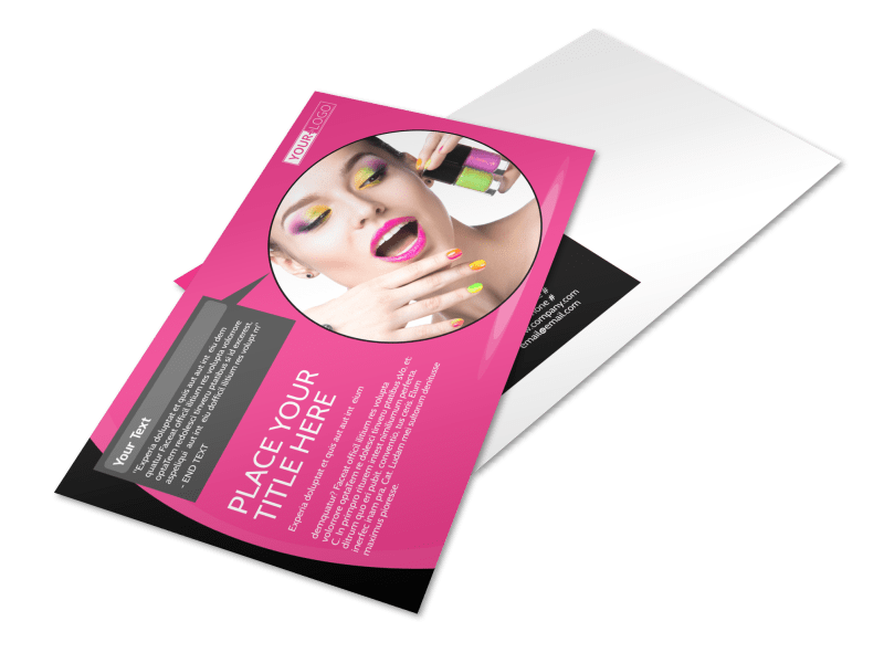 Beauty Supply Postcard Template Preview 1