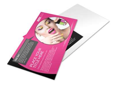 Beauty Supply Postcard Template preview