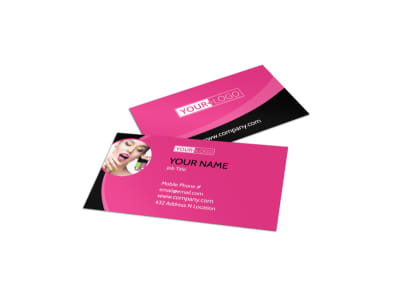 Beauty Supply Business Card Template preview