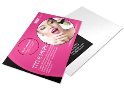 Beauty Supply Postcard Template
