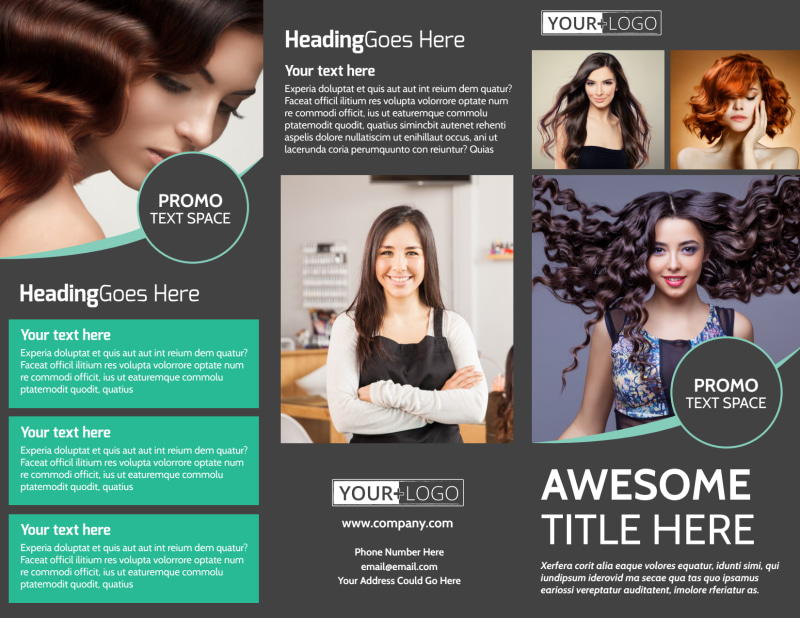 Moxie Hair Salon Brochure Template Preview 2