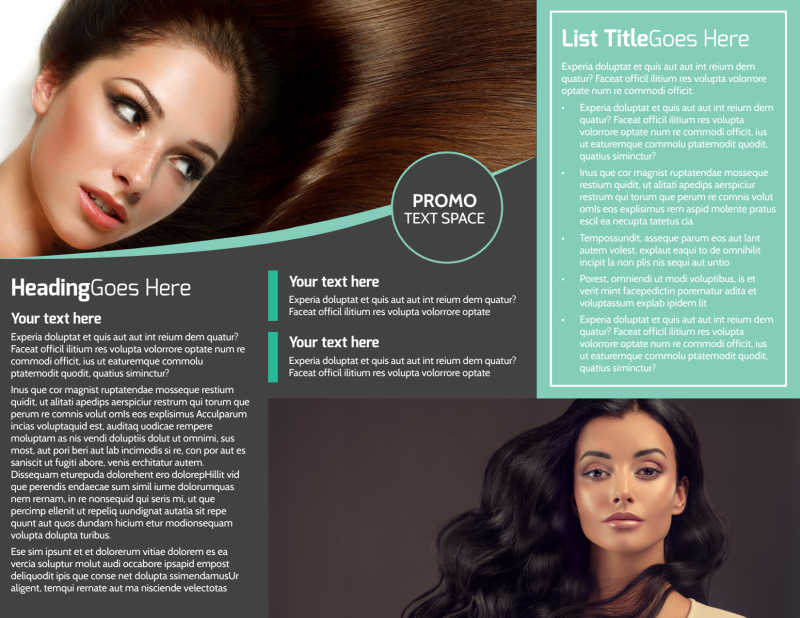 Moxie Hair Salon Brochure Template Preview 3