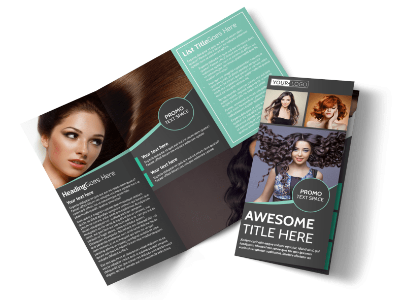 Moxie Hair Salon Brochure Template Preview 1