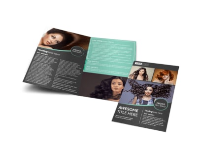 Moxie Hair Salon Bi-Fold Brochure Template preview